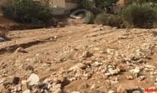 قطع طريق برغون عفصديق في الكورة بسبب السيول وانهيار التربة