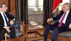 أبو فاعور التقى بري: نأمل أن نطلق الورشة التشريعية التي تحمي الصناعة وتعززها