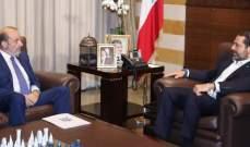 الحريري عرض والصراف سبل تطبيق مقررات روما 2 وشؤونا وزارية