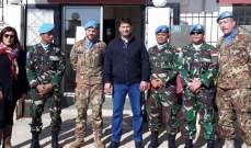 قوات اليونيفل تستعرض مع رئيس بلدية كفرحمام القضايا الخدماتية للبلدة