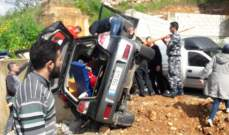 النشرة: قتيلة وجريح اثر تدهور سيارة على اوتوستراد كفرمان باتجاه النبطية