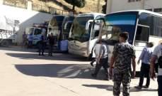 النشرة: وصول 4 حافلات الى شبعا لنقل النازحين السوريين الى بلادهم
