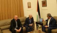 دبور التقى كوردوني وبحث معه أوضاع المخيمات الفلسطينية