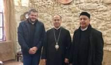 وفد من حزب الله التقى المطران ايلي بشارة الحداد