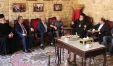 أسامة سعد زار المطران كفوري مهنئا بعيد الفصح