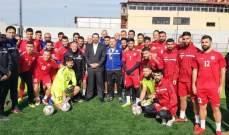 الحريري تفقد لاعبي منتخب لبنان لكرة القدم: كونوا يدا واحدة للفوز بالمباريات
