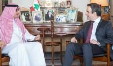 معوض استقبل البخاري: لبنان يجب أن يبقى في قلب الشرعية العربية