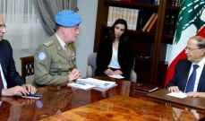 الرئيس عون استقبل قائد قوات اليونيفيل وبحث معه في التطورات الأخيرة