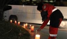 فوج الإنقاذ الشعبي يضيء الشموع في صيدا تحية  لروح  معروف سعد