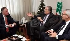 جريصاتي: لبنان لا يقبل بأن يكون ممرا لأي طائرات أو صواريخ تمر من أرضه لقصف مواقع في سوريا