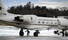 وصول الطائرة الرئاسية الجزائرية إلى مطار بوفاريك العسكري بالجزائر