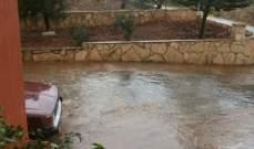 النشرة: الأمطار شكلت بركا بالحقول الزراعية بيحمر وزوطرين الغربية والشرقية