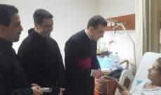 المونسنيور سانتوس يحتفل بقداس اليوم العالمي للمريض بمستشفى سيدة المعونات