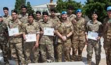 الكتيبة الايطالية نظمت دورة تدريبية مشتركة مع الجيش اللبناني