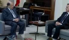 الرئيس عون استقبل حاكم مصرف لبنان وعرض معه الاوضاع النقدية