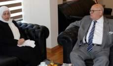 بهية الحريري جددت دعم جهود بلدية صيدا في متابعة شؤون المدينة