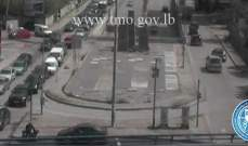 حركة المرور كثيفة من جسر الفيات باتجاه مستديرة العدلية - بيروت