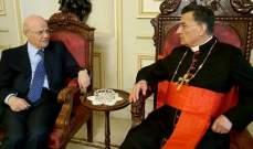البطريرك الراعي استقبل عبيد وسفيرة تشيلي في لبنان وقائمقام جبيل