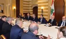الحريري عرض مع الوفد الروسي المكلف متابعة موضوع النازحين مقترحاته