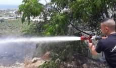 النشرة: اخماد حريق اشجار وهشير في حي الزنبيل في الغازية