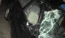 انهيار جدار على سيارة في بلدة بدنايل بالكورة من جراء العاصفة