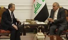 باسيل التقى نظيره العراقي في بغداد وبحث معه العلاقات الثنائية