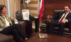لاسن التقت الحريري:إستقلال لبنان واستقراره أولوية بالنسبة للإتحاد الأوروبي