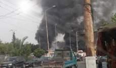 النشرة: اخماد حريق اندلع بهامر عسكري للجيش في منطقة الحسبة في صيدا