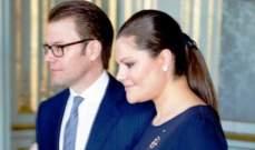 وصول ولية عهد السويد الأميرة فيكتوريا وزوجها الأمير دانيال لقصر بعبدا