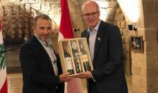 باسيل التقى رئيس مجلس العموم في كندا والسفيرة الكندية في لبنان