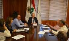 دبوسي عرض باجتماع هيئة مكتب غرفة طرابلس للمشاريع المنجزة