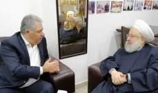 الشيخ حمود تداول مع السفير دبور في الشأن الفلسطيني العام