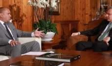 فرنجية عرض مع سفير كوبا موقف بلاده من القضايا العربية وقضية فلسطين