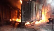 الدفاع المدني: إخماد حريق مولد للطاقة الكهربائية داخل حاوية في بلاط