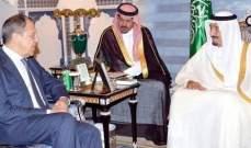 اجتماع مغلق بين الملك سلمان ولافروف في الرياض