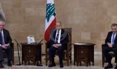 النشرة:الوفد الاميركي وصل إلى قصر بعبدا قبل موعده وعون لم يتأخر عن اللقاء