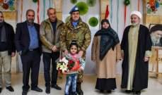 جولة لقائد القطاع الغربي لليونيفيل في مدرسة الاشراق ومبرة الخير في بنت جبيل