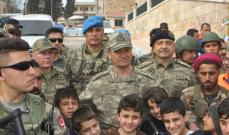 قائد الجيش الثاني في القوات المسلحة التركية زار عفرين