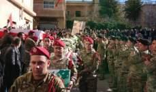 ممثل قائد الجيش في تشييع الشهيد يزبك: الجيش لن يسكت على استهدافه