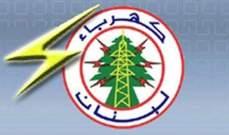 كهرباء لبنان: التغذية تعود تدريجيا الى طبيعتها بدءا من الخميس