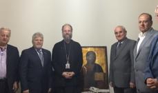 وفد المجلس الارثوذكسي زار راعي أبرشية جبل لبنان والبترون للارثوذكس
