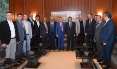 الفرزلي إستقبل نائبين روسيين ورئيس غرفة التجارة والصناعة الروسية