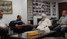الشيخ ماهر حمود التقى وفدا من حركة حماس في مكتبه في صيدا