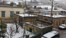 النشرة: بدء تساقط الثلوج بوتيرة خفيفة فوق مدينة زحلة