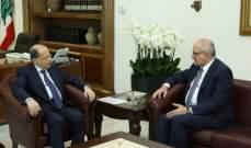 الرئيس عون يلتقي الوزير علي حسن خليل ممثلاً حركة أمل