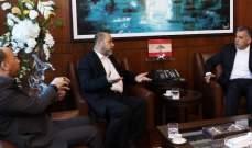اللواء ابراهيم التقى أبو مرزوق وبحث معه شؤون المخيمات الفلسطينية