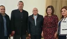 درويش عرض مع وفد أندية الليونز التحضيرات لإفتتاح قسم طب العيون في مستشفى تل شيحا