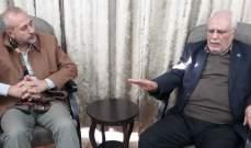 """وفد من المؤتمر الشعبي لفلسطينيي الخارج يلتقي مسؤولي """"حزب الله"""""""