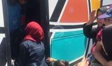 النشرة:وصول 4حافلات تقل نازحين سوريين من النبطية الى معبر المصنع