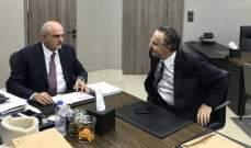 علي حسن خليل بحث مع عدوان الإجراءات المطلوب اتخاذها في موضوع الجمارك